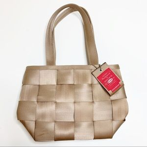 Harveys Seatbelt Bag Small Tan Purse 100% Seatbelt